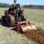 Tilling planting rows